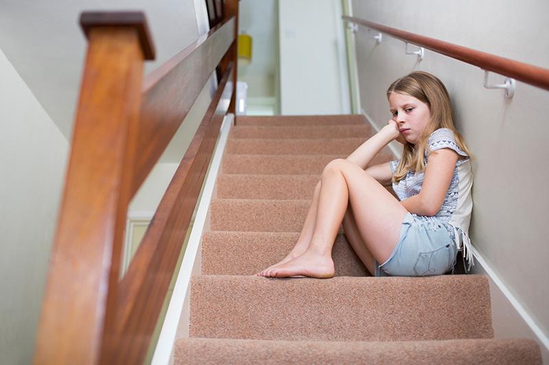 School Refusal Girl Upset
